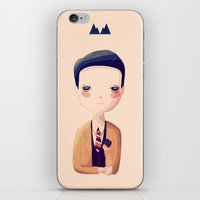 dale cooper iPhone & iPod Skins featuring Dale by Nan Lawson