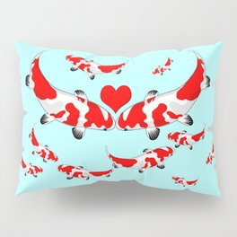 Koi Fish Kisses Pillow Sham