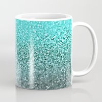 teal Mugs featuring TEAL  by Monika Strigel