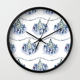 Let's Go Ice Skating! – Xmas Edition Wall Clock