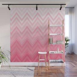 Fading Pink Chevron Wall Mural