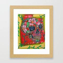 Skull of Flowers Framed Art Print