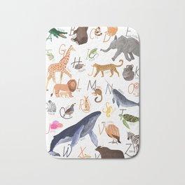 Animal Alphabet Bath Mat