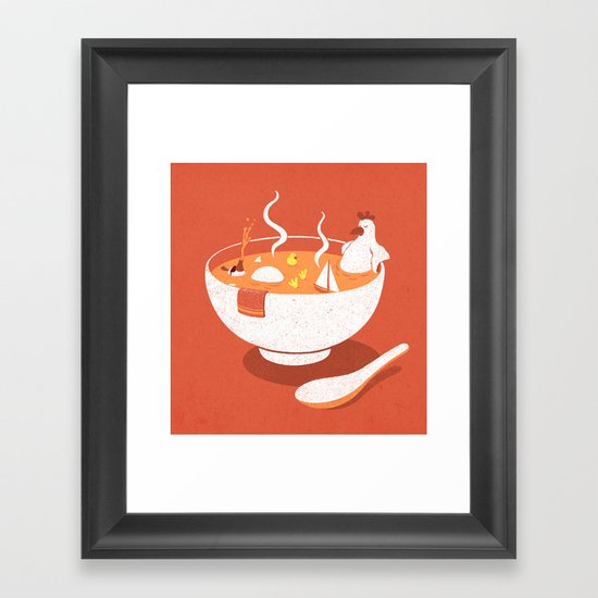La Chicken Soup Framed Art Print