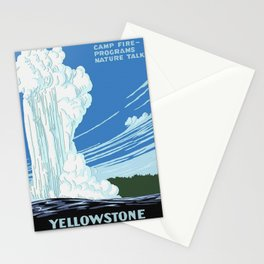 Vintage Yellowstone National Park Travel Stationery Cards