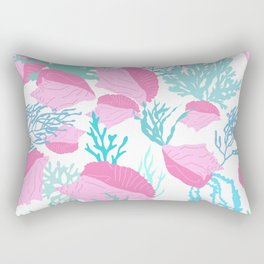 Conch n Coral Rectangular Pillow