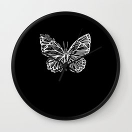 Crystal Butterfly Hoodie Wall Clock