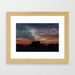 Painted Sunrise by Nature  Framed Art Print