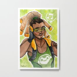OW Watercolour | Lucio Metal Print