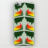 ships iPhone & iPod Skins featuring Burning Ships by Mimi