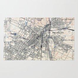 Vintage Map of Los Angeles California (1894) Rug