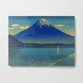Tsuchiya Koitsu Vintage Japanese Woodblock Print Mount Fuji Metal Print