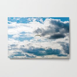 Paragliding flying through the air Metal Print