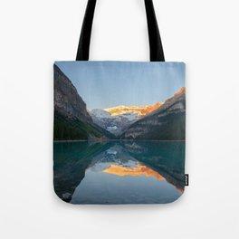 LAKE LOUISE SUNRISE REFLECTION BANFF NATIONAL PARK CANADA LANDSCAPE Tote Bag