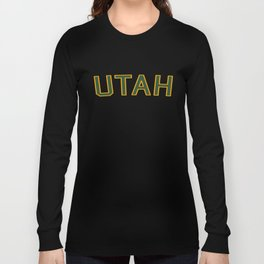 Utah Sports College Font Long Sleeve T-shirt