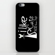 I Like Cats More Than People iPhone & iPod Skin