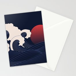Japanese Sunset Stationery Cards