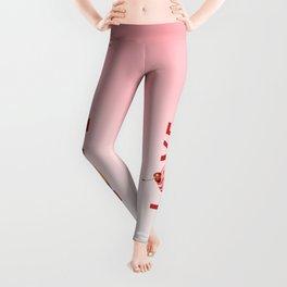 Pink Cupcake LOVE Leggings