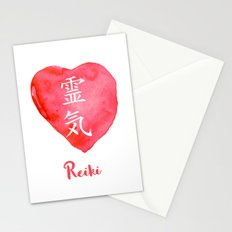 Sacred geometry. Reiki symbol. The word Reiki is made up of two Japanese words, Rei means 'Universal Stationery Cards