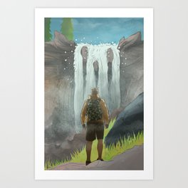 HK Bokuto's waterfall Art Print