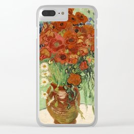 Vincent Van Gogh Still Life Vase With Daisies And Poppies Clear iPhone Case