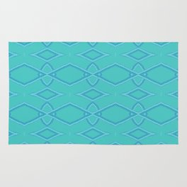 Abstract Teal Pattern  Rug