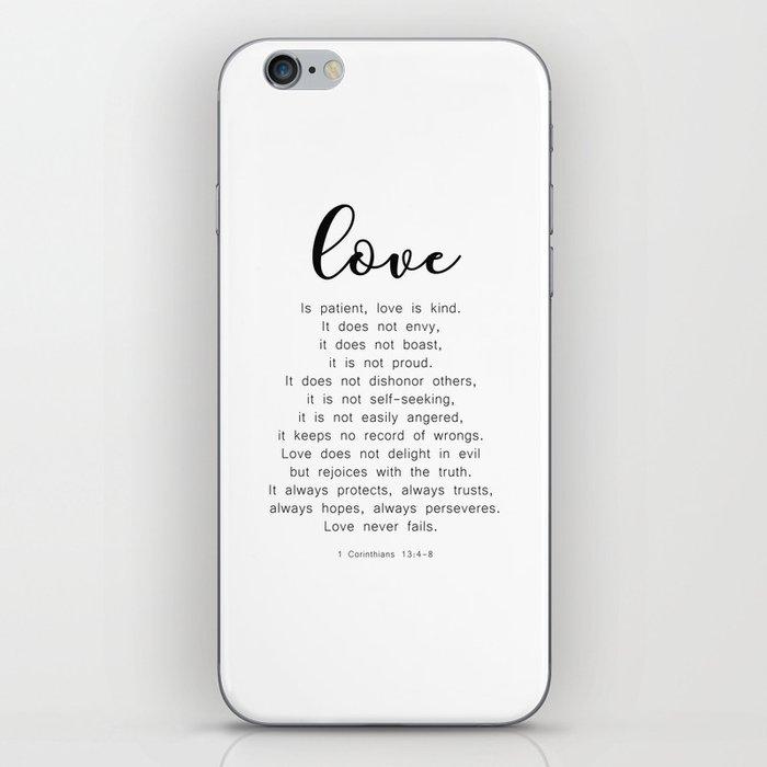 Love Never Fails #minimalism iPhone Skin