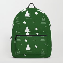Christmas Geometric green tree abstract Backpack