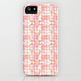 Graphic geometric chevron arrow stripes iPhone Case