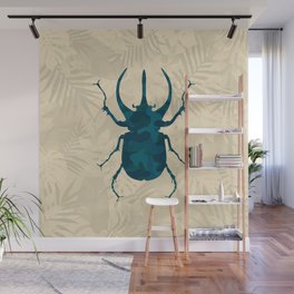 Original Camouflage Pattern Scarab Beetle Wall Mural