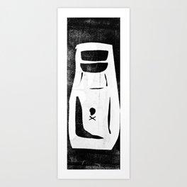 poison bottle collage Art Print