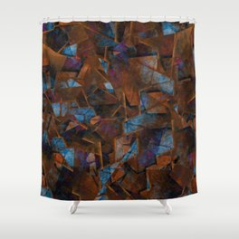Frsgments In Bronze - Abstract Textured Art Shower Curtain