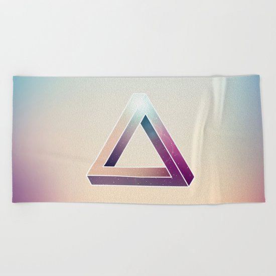 Penrose Triangular Universe Beach Towel