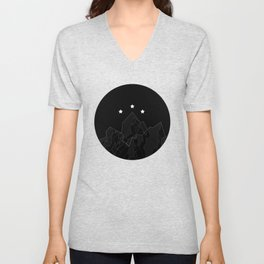 Black Night Court Circle Logo - Inspired by Sarah J Maas' A Court of Mist and Fury and A Court of Th Unisex V-Neck
