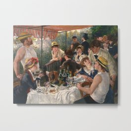 Auguste Renoir - Luncheon of the Boating Party (Le déjeuner des canotiers) Metal Print