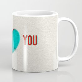 Dueling Hearts 3D Anaglyph Coffee Mug