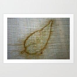 Leaf Impression Art Print