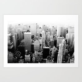 Ghost City Art Print
