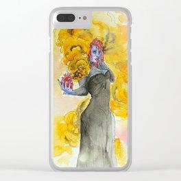Orange magic witch Clear iPhone Case