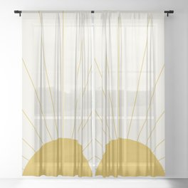 Sunrise / Sunset Minimalism Sheer Curtain