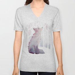 Fox in the Snow Unisex V-Neck