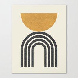 Mid century modern - half sun arch Canvas Print
