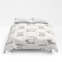 Inhale Exhale English Bulldog Comforters
