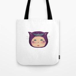 alice purple cat Tote Bag