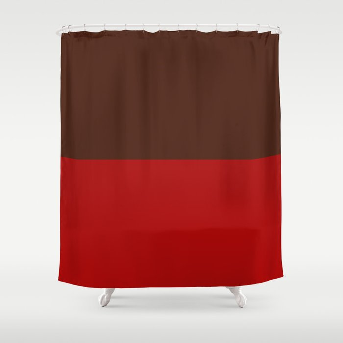 Choc Cranberry Shower Curtain By Moonshineparadise