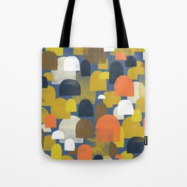 Fall Woods M+M Navy Blue By Friztin Tote Bag