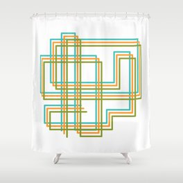 Square Ways Shower Curtain