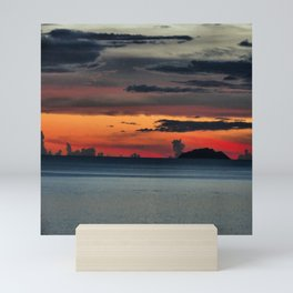 Dressed Sky With Calm Ocean Mini Art Print