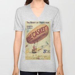 Vintage poster - The Casket Cigarettes Unisex V-Neck