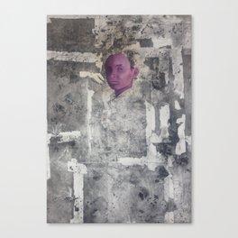 Siri. Oil Paint on Collagraph Print by Jain McKay Canvas Print